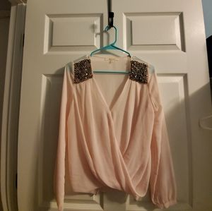 Sheer Embellished Blouse
